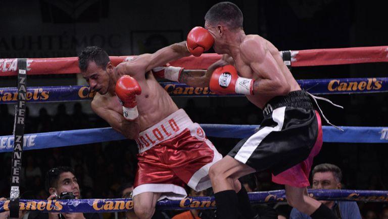 Edgar Martinez y Jesus Quijada en una pelea
