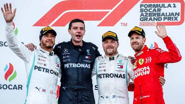 Ganadores del podio del Gran Premio de Azerbaiyán