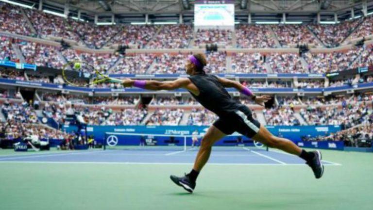 Rafael Nadal en un juego del US Open