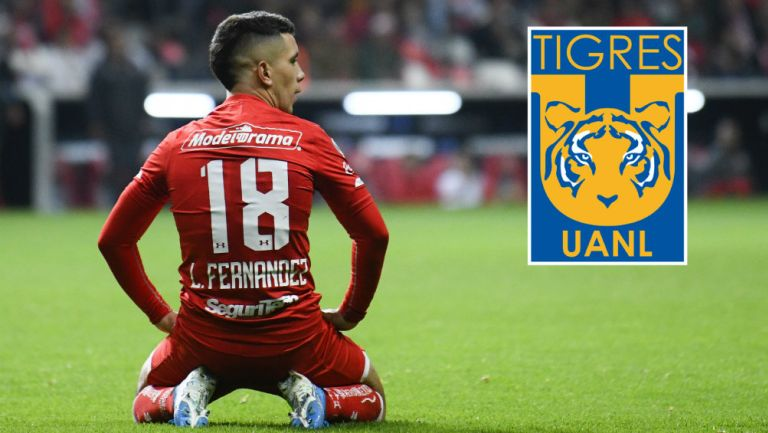 Leo Fernández en acción con Toluca