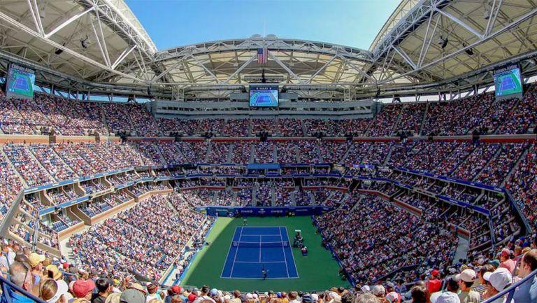 Panorámica en la cancha del US Open