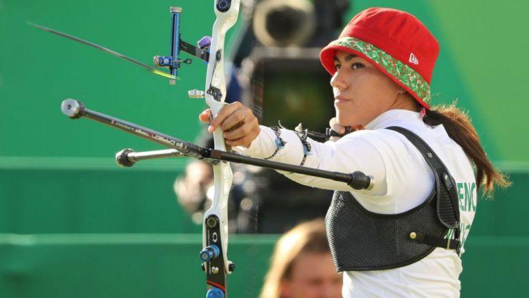 Alejandra Valencia en práctica