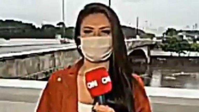 VIDEO: Reportera de televisión en Brasil fue asaltada con arma blanca en vivo