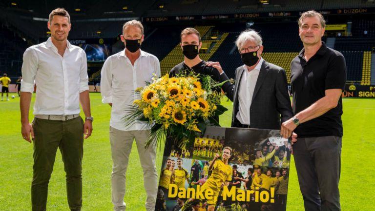 Gotze en despedida con el Dortmund