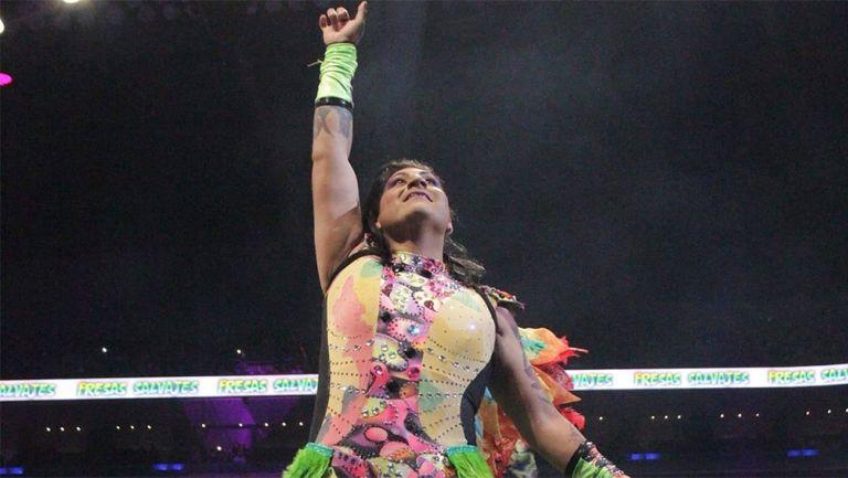 Mamba durante una lucha en Triple A