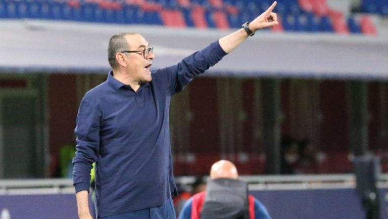 Maurizio Sarri, entrenador de la Juventus de Turín