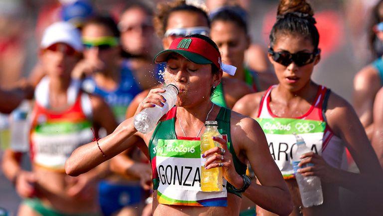González, durante la prueba de 20 kms. en Río 2016
