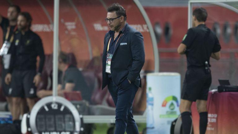 Antonio Mohamed en el partido entre Rayados y Liverpool
