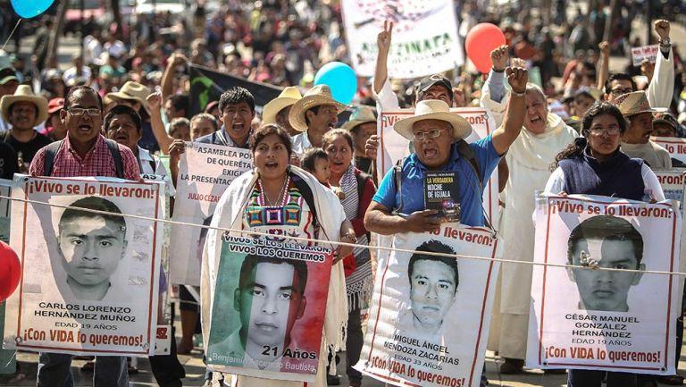 Una de las protestas por el caso Ayotzinapa