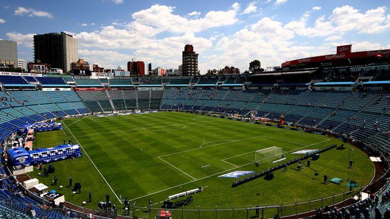 Una toma panorámica del Estadio Azul