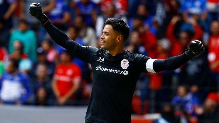 Alfredo Talavera durante un partido con Toluca