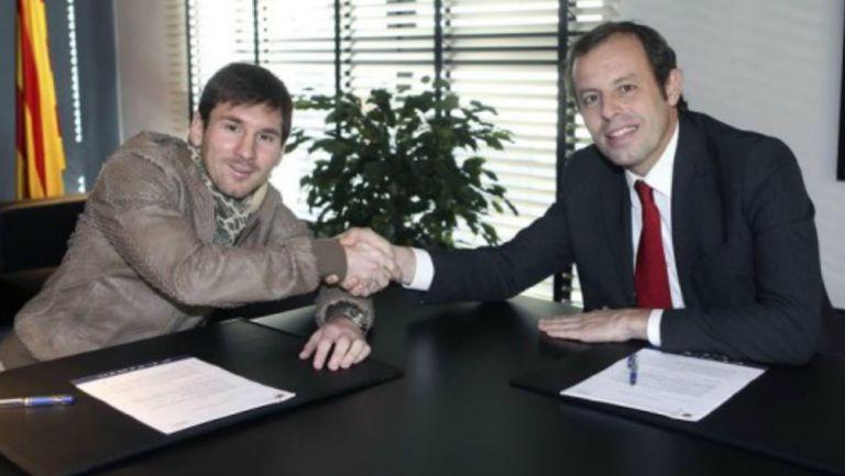 Barcelona: Sandro Rosell aseguró que Messi no se dejará utilizar en elecciones para presidente