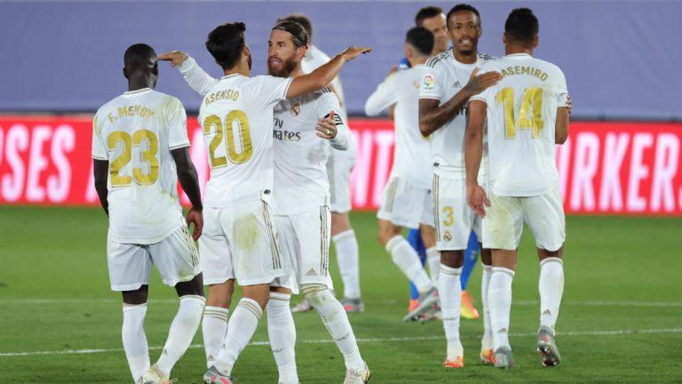 Real Madrid en festejo de gol