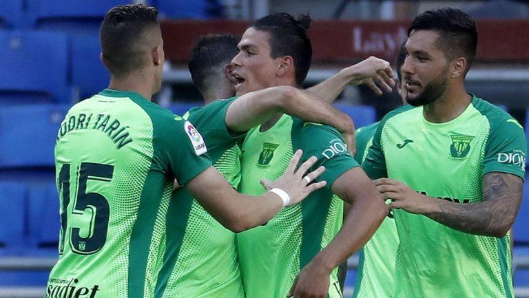 Leganés en celebración de gol