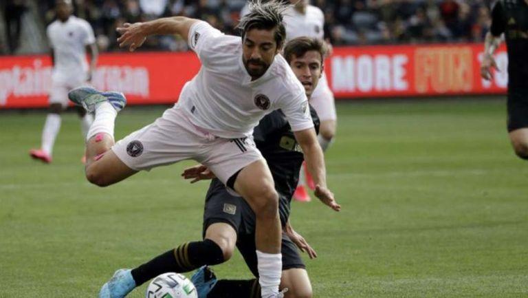 Rodolfo Pizarro en acción con Inter Miami