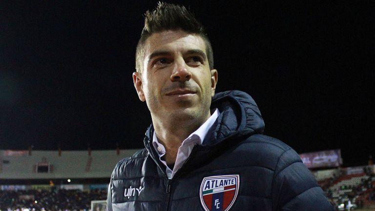 Alex Diego, durante un partido del Atlante