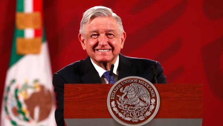 López Obrador durante una conferencia de prensa matutina