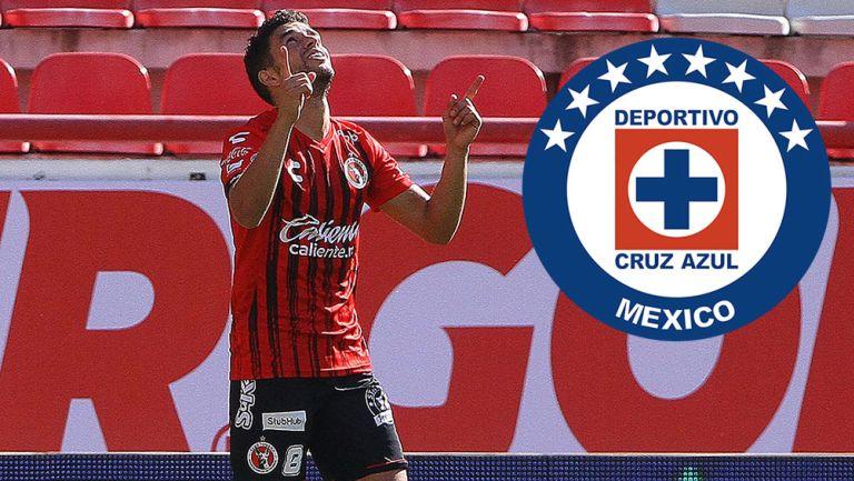 Rivero celebra un gol con Tijuana