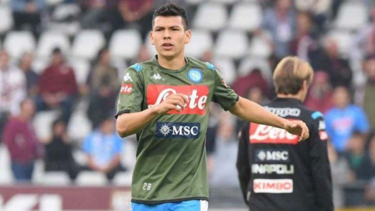 Lozano se prepara para un juego con el Napoli