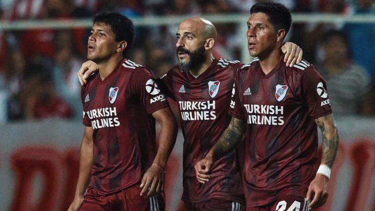 Jugadores de River Plate durante un compromiso