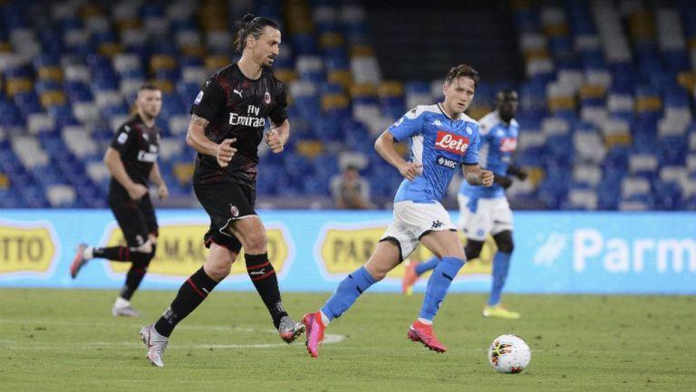 Serie A: Milan rescató empate ante el Napoli del Chucky Lozano
