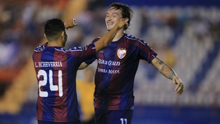Jugadores de los Potros de Hierro celebran un gol