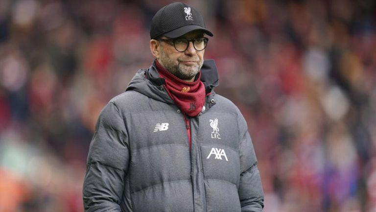 Klopp durante un duelo del Liverpool en Premier League