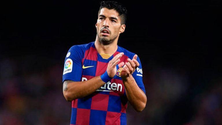 Luis Suárez durante un duelo con el Barcelona en LaLiga