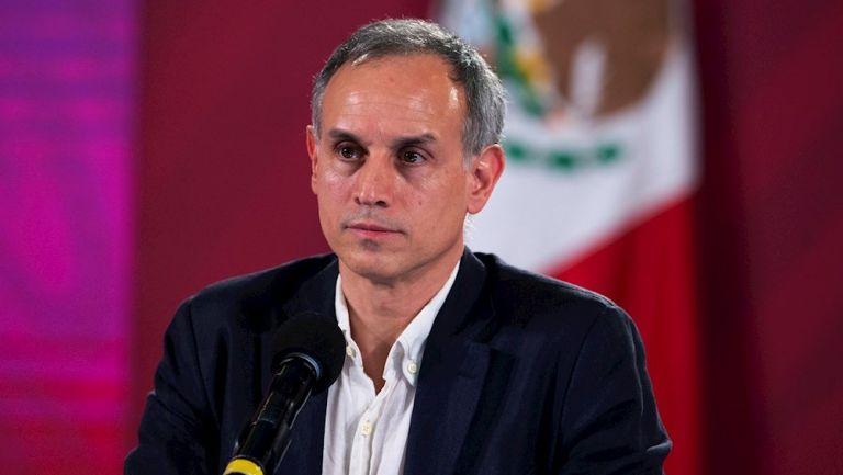 Hugo López-Gatell en conferencia en el Palacio Nacional