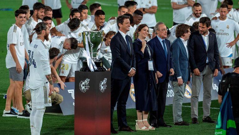 Sergio Ramos previo a recibir el título de LaLiga