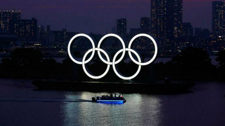 Aros olímpicos en Tokio