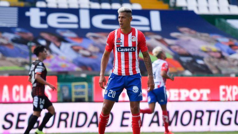 Mauro Quiroga durante un partido con Atlético de San Luis