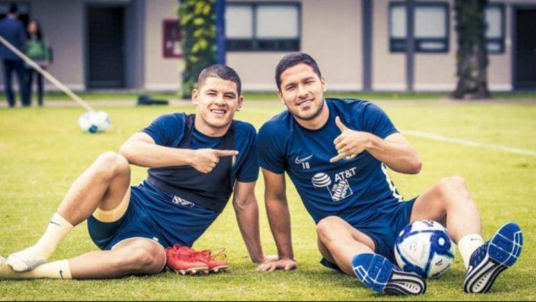 Richard Sánchez y Bruno Valdez en entrenamiento