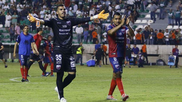 Jugadores del Atlante en un juego de Ascenso MX