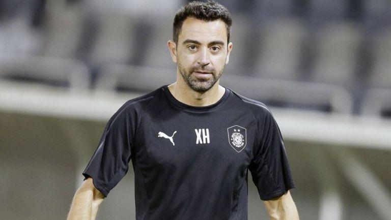 Xavi Hernández durante un duelo del Al-Sadd