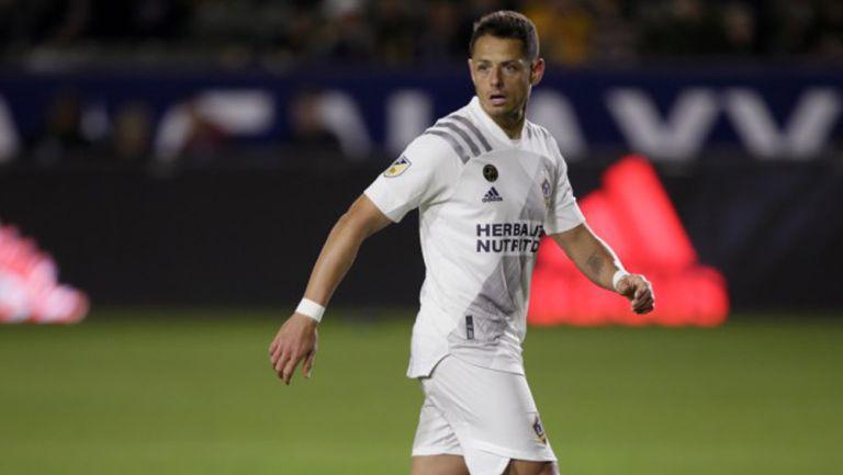Chicharito durante un partido con el Galaxy en MLS