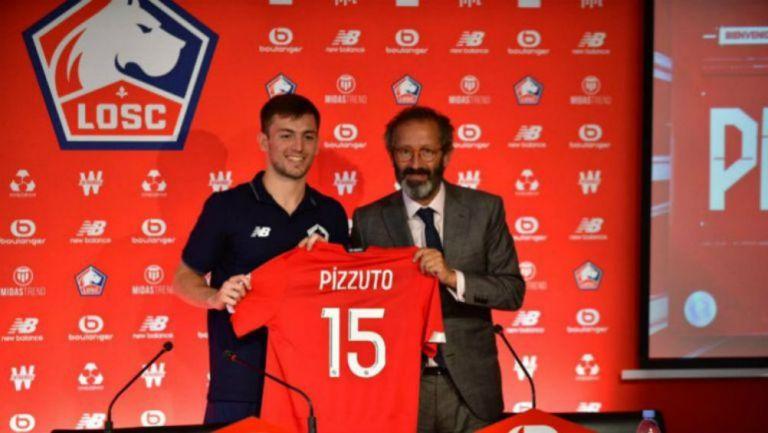 La presentación de Eugenio Pizzuto con el Lille