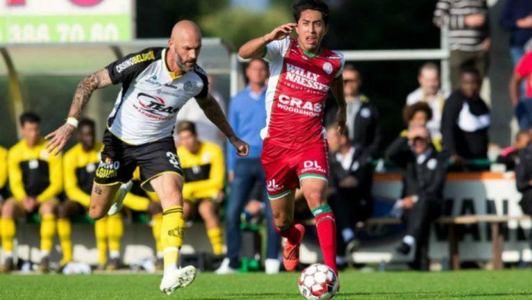 Omar Govea durante un partido con el Zulte Waregem