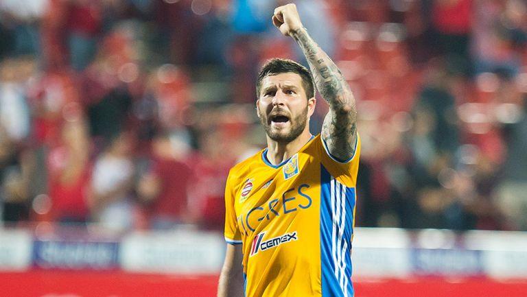 Gignac celebra el pase a la Final del Clausura 2017 en el Caliente