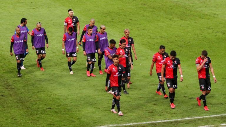 Jugadores del Atlas tras caer vs Pumas