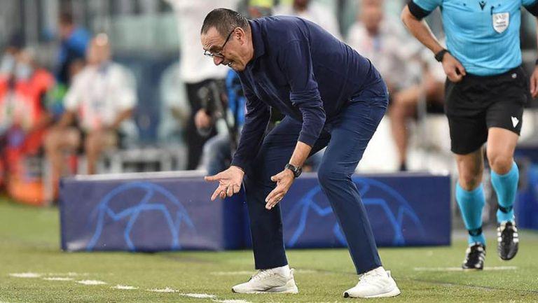 Maurizio Sarri se lamenta en juego de la Juventus