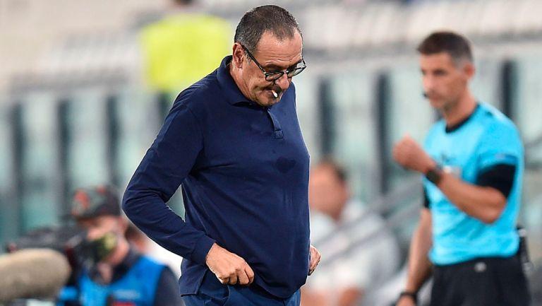 Maurizio Sarri tras la eliminación de la Juventus en Champions