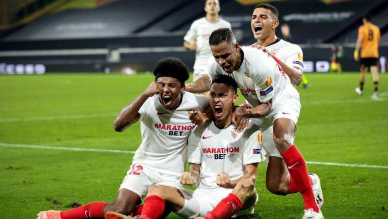 Sevilla en festejo de gol