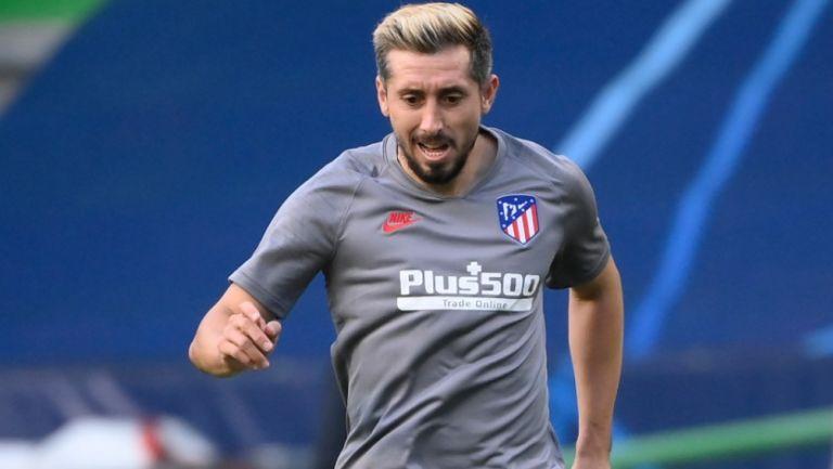 Herrera, en un entrenamiento del Atlético de Madrid
