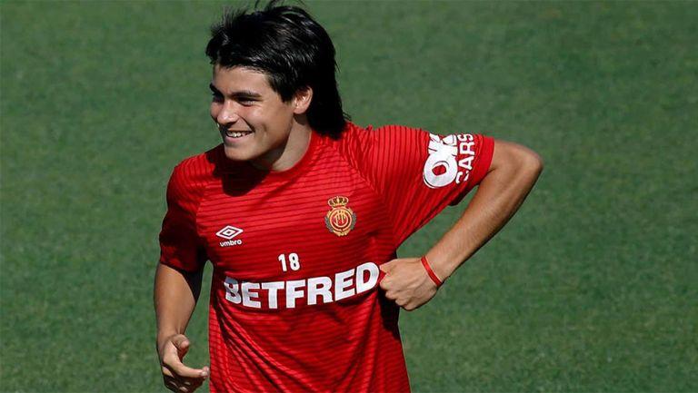 Luka Romero en partido con Mallorca