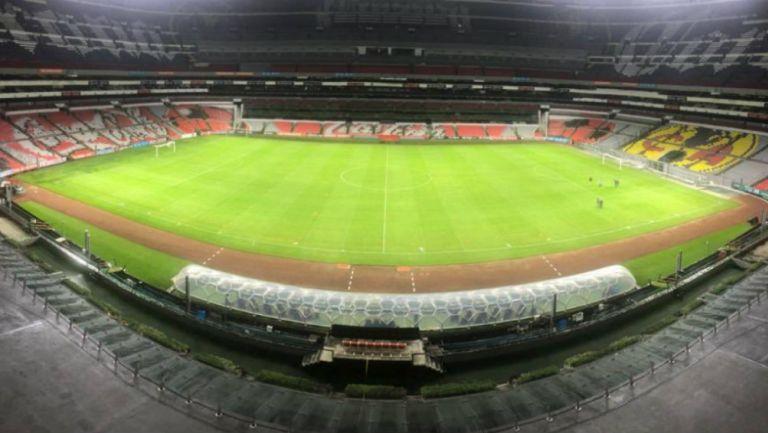 Victoria parcial para CF Monterrey sobre Club América en el estadio Azteca