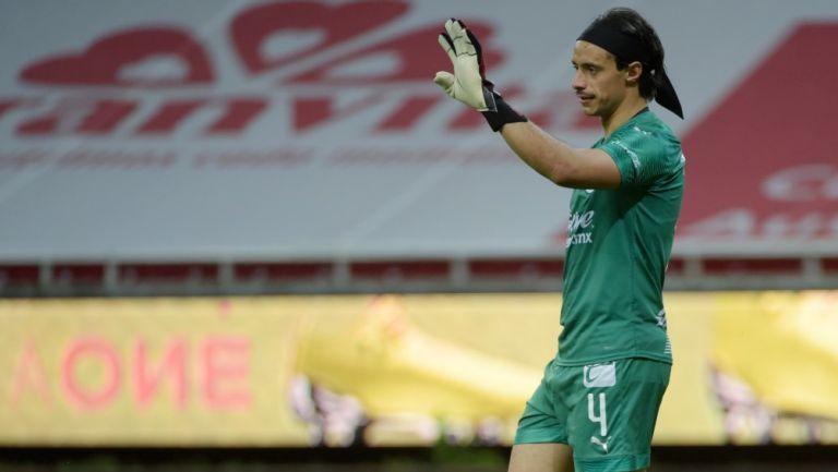 Toño Rodríguez durante un partido con Chivas