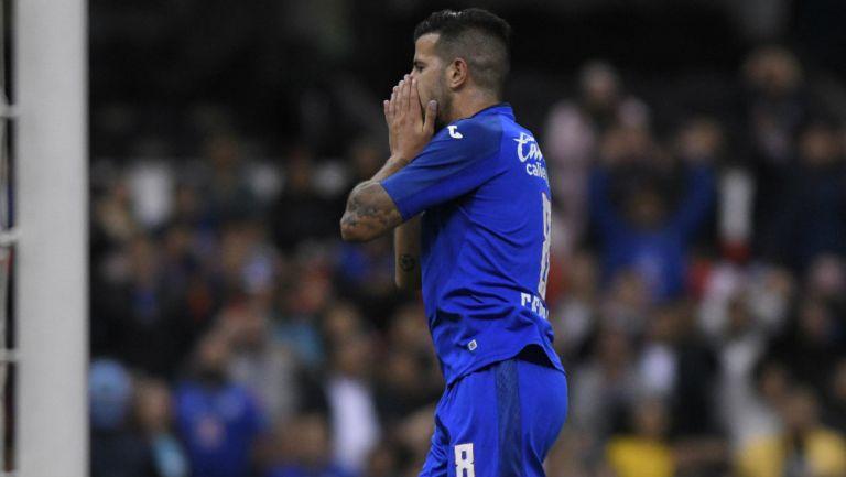 Pablo Ceppelini en lamento de gol