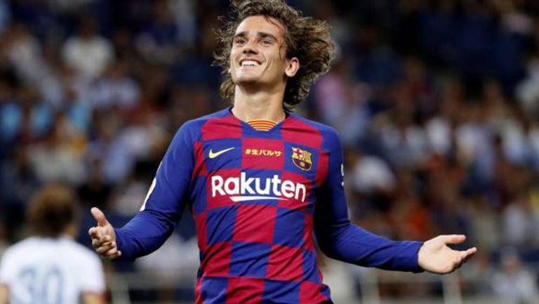 Antoine Griezmann festeja un gol con el Barcelona