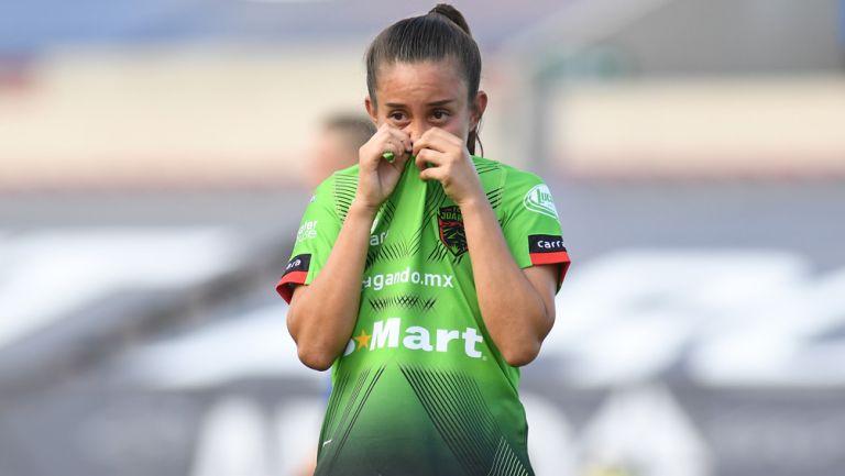 Brenda Alvarado se lamenta tras acciones contra Atlético de San luis
